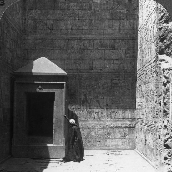 The Holy of Holies and Shrine for the Divine Image, Temple of Edfu, Egypt, 1905-Underwood & Underwood-Photographic Print