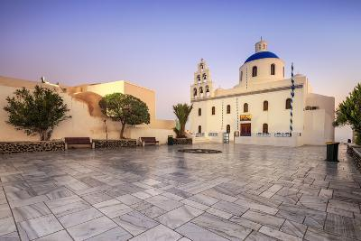 The Holy Orthodox Church of Panagia with the Colors White and Blue the Icons of Greece, Oia-Roberto Moiola-Photographic Print