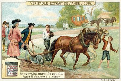 The Holy Roman Emperor Joseph II Ploughing--Giclee Print