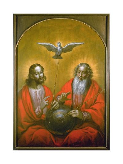 The Holy Spirit with a Model of Ptolemy's World, 1610-Hermann Han-Giclee Print