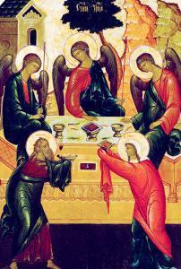 The Holy Trinity, Russian Icon, Novgorod School, 15th Century