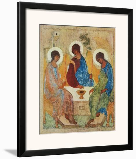 The Holy Trinity-Andrei Rublev-Framed Art Print