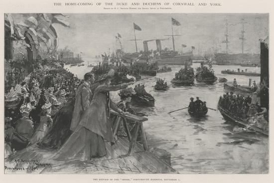 The Home-Coming of the Duke and Duchess of Cornwall and York-Henry Charles Seppings Wright-Giclee Print