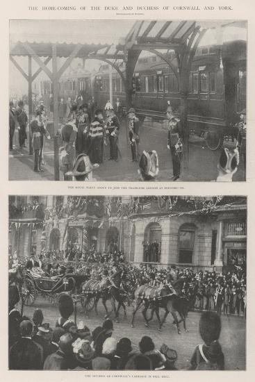 The Home-Coming of the Duke and Duchess of Cornwall and York--Giclee Print