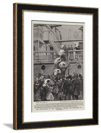 The Home-Coming of the Pavonia, Landing the Passengers at Liverpool-Joseph Nash-Framed Giclee Print