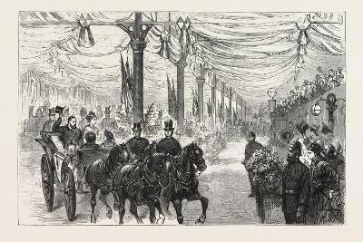 The Home-Coming of the Prince of Wales : the Royal Party Leaving the Victoria Station of the London--Giclee Print
