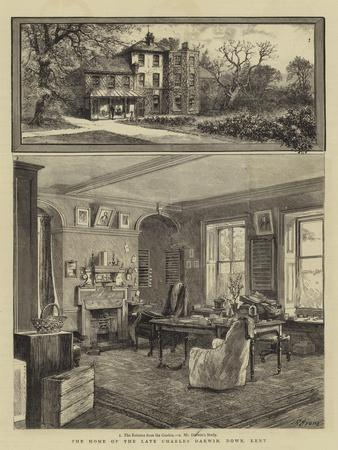 The Home of the Late Charles Darwin, Down, Kent--Giclee Print