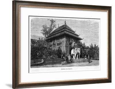 The Home of the Sacred White Elephants--Framed Giclee Print
