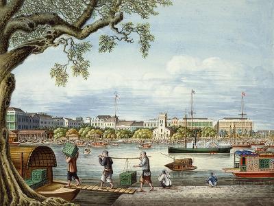 The Hongs of Canton, C.1852- Tinqua-Giclee Print