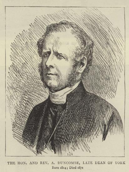 The Honourable and Reverend a Duncombe, Late Dean of York--Giclee Print