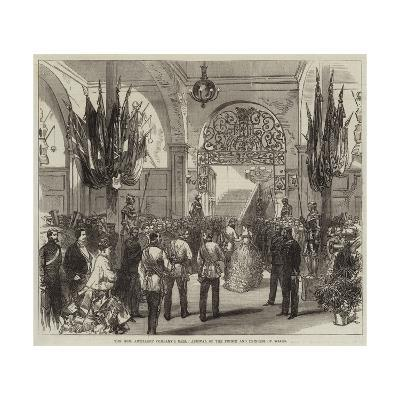 The Honourable Artillery Company's Ball, Arrival of the Prince and Princess of Wales--Giclee Print