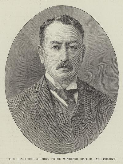 The Honourable Cecil Rhodes, Prime Minister of the Cape Colony--Giclee Print