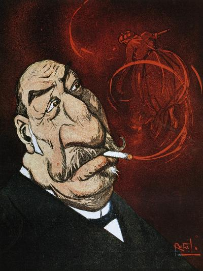 The Honourable Giolitti's Smoke, Satirical Cartoon from L'Asino Magazine, July 26, 1908, Italy--Giclee Print