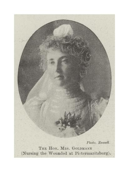 The Honourable Mrs Goldmann, Nursing the Wounded at Pietermaritzburg--Giclee Print