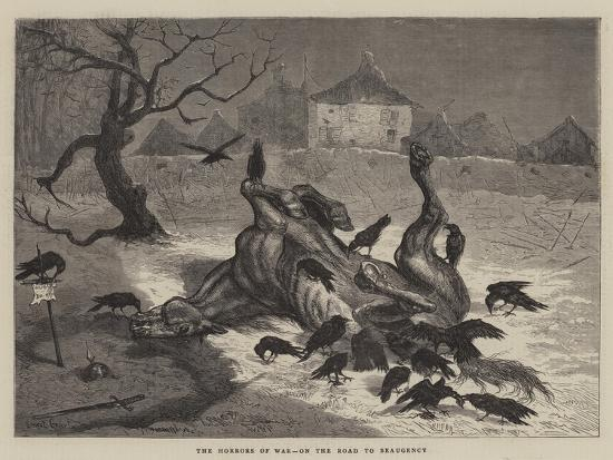 The Horrors of War, on the Road to Beaugency-Ernest Henry Griset-Giclee Print