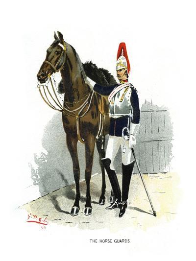 The Horse Guards, C1890-Geoffrey Douglas Giles-Giclee Print