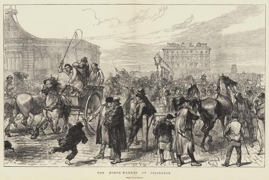 The Horse Market at Islington-Charles Robinson-Giclee Print