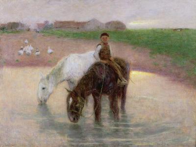 The Horse Pond, C.1890-Edward Stott-Giclee Print
