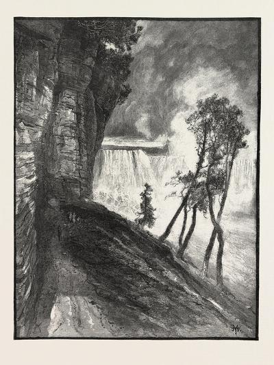 The Horse-Shoe Fall, from under Cliff at Goat Island, Canada, Nineteenth Century--Giclee Print