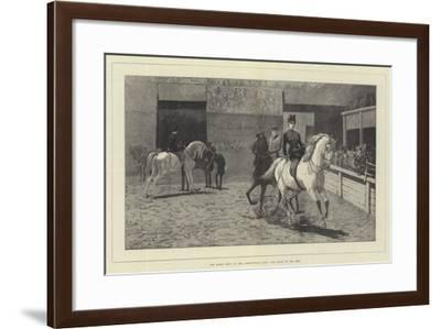 The Horse Show at the Agricultural Hall, the Arabs in the Ring-John Charlton-Framed Giclee Print