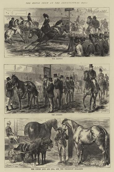The Horse Show at the Agricultural Hall-Godefroy Durand-Giclee Print