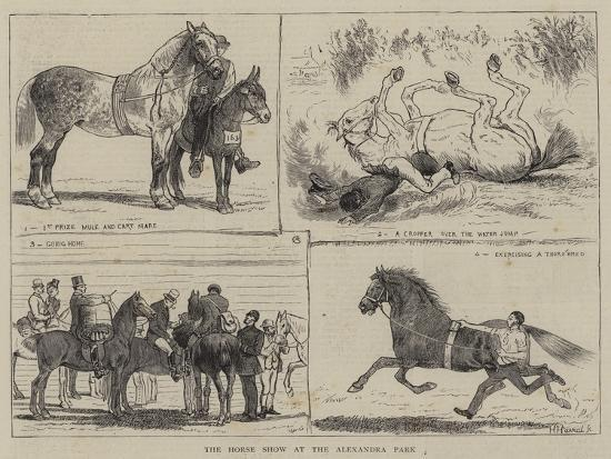 The Horse Show at the Alexandra Park-Alfred Chantrey Corbould-Giclee Print