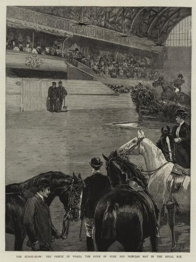 The Horse-Show, the Prince of Wales, the Duke of York and Princess May in the Royal Box--Giclee Print