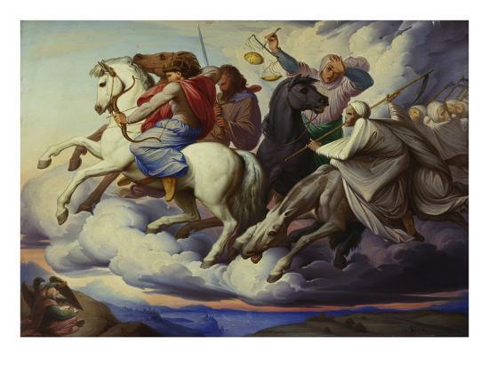 The Horsemen of the Apocalypse, 1838-Edward Jakob Von Steinle-Giclee Print