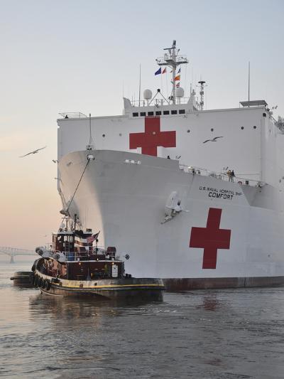 The Hospital Ship USNS Comfort Departs for Deployment-Stocktrek Images-Photographic Print