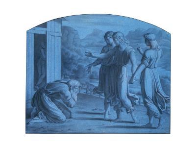 The Hospitalite of Abraham, C1820-1857-Achille Deveria-Giclee Print