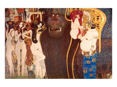 The Hostile Force, c.1902-Gustav Klimt-Premium Giclee Print