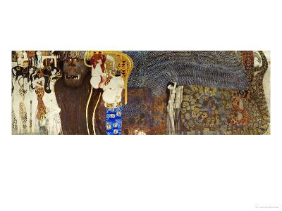 The Hostile Powers, the Titan Typhoeus, the Three Gorgons, Voluptiousness, Wantonness, Immoderation-Gustav Klimt-Giclee Print