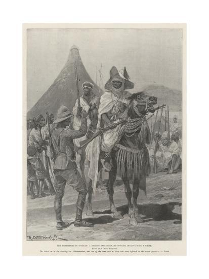 The Hostilities in Nigeria, a British Expeditionary Officer Interviewing a Chief-Richard Caton Woodville II-Giclee Print