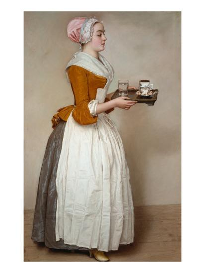 The Hot Chocolate Girl, about 1744/45-Jean-Etienne Liotard-Giclee Print