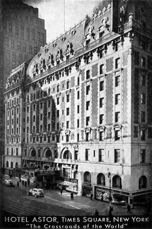 The Hotel Astor, Times Square, New York, C1930S--Giclee Print