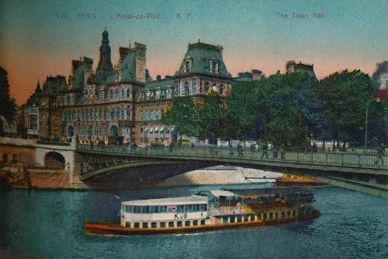 The Hôtel de Ville, Paris, c1920-Unknown-Giclee Print