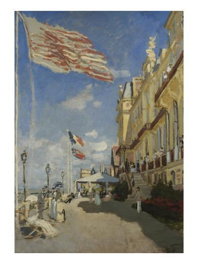 The Hotel des Roches Noires at Trouville-Claude Monet-Giclee Print