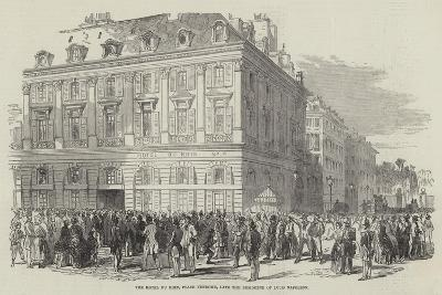 The Hotel Du Rhin, Place Vendome, Late the Residence of Louis Napoleon--Giclee Print