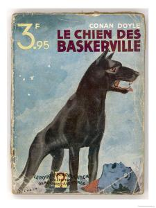The Hound of the Baskervilles' a Striking Cover for a French Edition Dated 1933