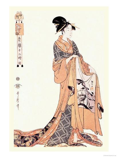 The Hour of the Hare-Kitagawa Utamaro-Art Print