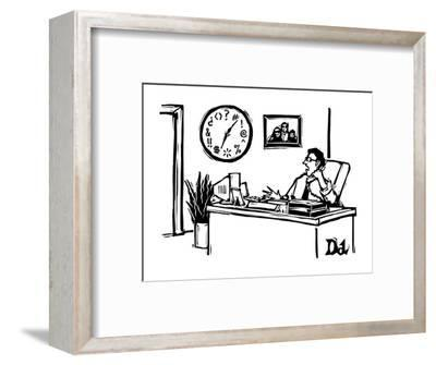 """The hours here are obscene."" - New Yorker Cartoon-Drew Dernavich-Framed Premium Giclee Print"