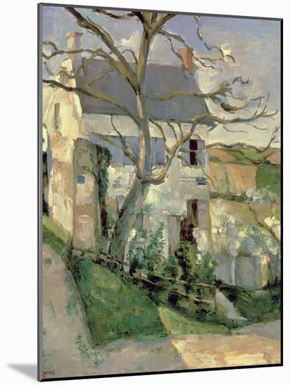The House and the Tree, C.1873-74-Paul C?zanne-Mounted Giclee Print