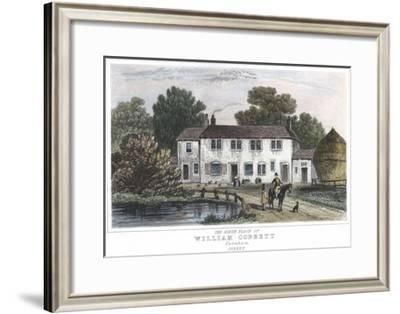 The House at Farnham, Kent, in Which William Cobbett Was Born, 1763--Framed Giclee Print