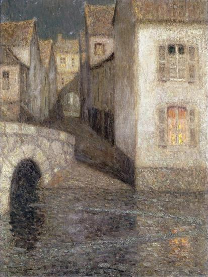The House by the River, Chartres; Les Masons Sur La Riviere, Chartres, 1929-Henri Eugene Augustin Le Sidaner-Giclee Print