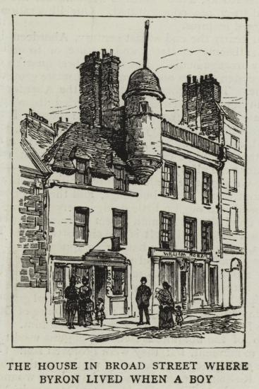 The House in Broad Street Where Byron Lived When a Boy--Giclee Print