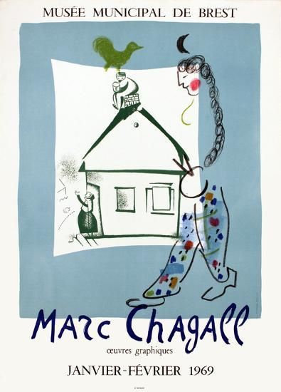 The House in My Village-Marc Chagall-Collectable Print