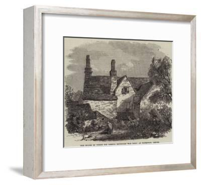 The House in Which Sir Joshua Reynolds Was Born, at Plympton, Devon--Framed Giclee Print