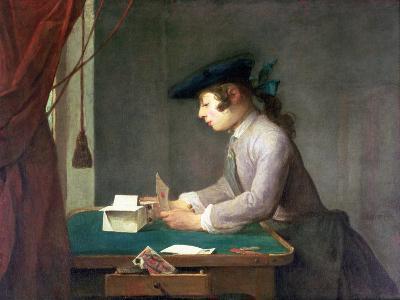 The House of Cards-Jean-Baptiste Simeon Chardin-Giclee Print