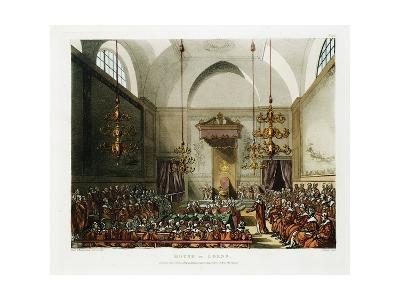 The House of Lords Color Print after Pugin and Rowlandson--Giclee Print