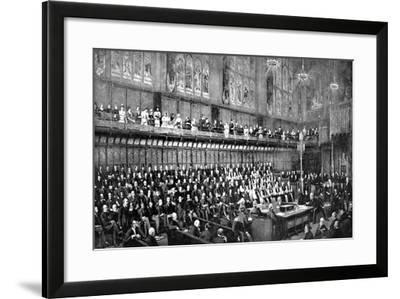The House of Lords During the Home Rule Debate, 1893--Framed Giclee Print